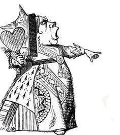 Alice in Wonderland illustration Red Queen - John Tenniel