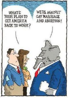 As another pinner says:  Sums up their bill production in congress...