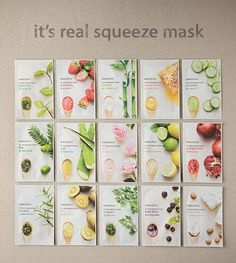 Innisfree It´s Real Squeeze Masks