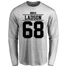 Erle Ladson Player Issued Long Sleeve T-Shirt - Ash - $25.95