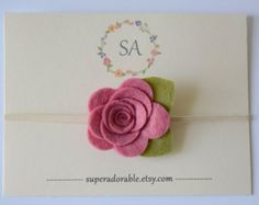 Fieltro flor diadema fieltro diadema bebé recién por SuperAdorable