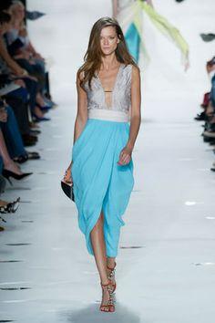 Casual blue maxi tulip skirt