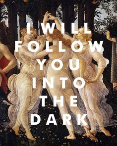 Death Cab for Cutie song print with fine art reproduction background. #deathcabforcutie #botticelli #fineart #lyrics