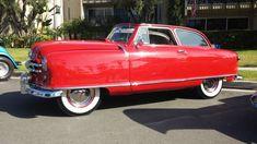'51 Nash Rambler Airflyte Landau ... w/ straight six/three-on-the-tree. Like BaT guys ... never seen one.