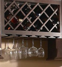 Wine cabinet - for above the island - open on both sides.