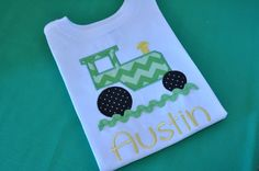 Tractor Applique Kids Shirt by TCPassionateStitches on Etsy, $20.00