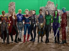 7 people, people standingYou can find Captain marvel and more on our people, people standing Captain Marvel, Marvel Avengers, Marvel Dc Comics, Marvel Girls, Marvel Funny, Marvel Heroes, Captain America, Avengers Women, Female Avengers