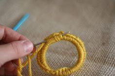 crochet on hair tie