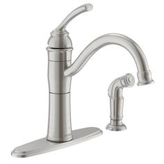 Moen Braemore Spot Resist Stainless 1-Handle High-Arc Kitchen Faucet with Side Spray