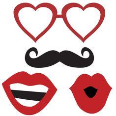 Moldes de oculos, bigode e boca