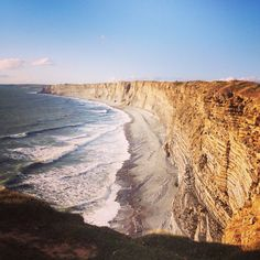 Cliff edge in Ogmore by Sea
