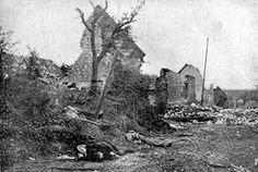Carency, après les combats.bataille de l'artois 1915