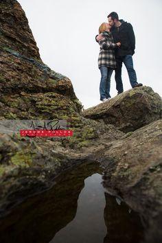 A kiss ... on the rocks. #engagement #portrait #couple #spokane #washington #rocks #nature #kiss #outdoors