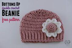 Bottoms Up Double Crochet Beanie Free Pattern