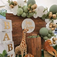 Deco Baby Shower, Baby Shower Balloons, Baby Shower Parties, Baby Shower Themes, Baby Boy Shower, Shower Ideas, Wild One Birthday Party, Baby Birthday, Balloon Garland