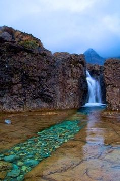 Fairy Pools Isle of Skye Scotland.  Maybe one day I can see it in person.                                                                                                                                                      More