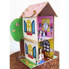 Cardboard Dollhouse Pattern