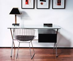 Simple. With Bertoia chair