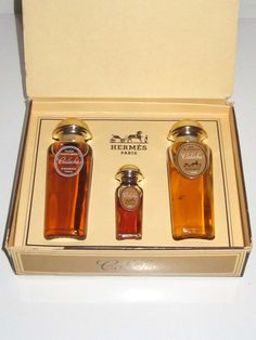 Hermes Caleche Gift Set - Always in Love with Vintage.t This has just been added to my collection. Same box, all 3 bottles full. But mines from the early 60's.