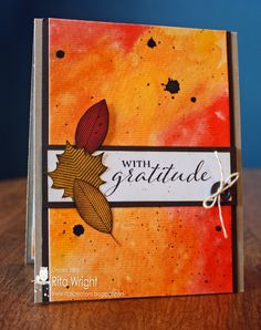 Cards by Rita: Watercolored Leaves