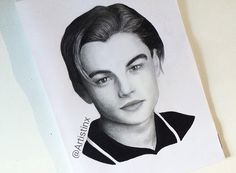 Leonardo DiCaprio (young) drawing by @Artistinx