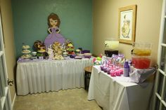 """Photo 15 of Sofia the First / Birthday """"Sophia the First's Birthday"""" Sophia The First Birthday Party Ideas, Little Girl Birthday, 6th Birthday Parties, 2nd Birthday, Birthday Ideas, Purple Princess Party, Princess Sofia Party, Mickey Mouse Parties, Minnie Mouse"""