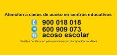 Teléfonos de atención de acoso escolar. #discapacidad Skype, Boarding Pass, Audio, Hearing Impaired