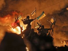 Live video feed of Kiev riot - Anti-government protesters clash with police in Kiev on February Riot Police, National Review, Fight For Freedom, French Revolution, Orange Revolution, Latest Images, The Villain, Valencia, Awesome