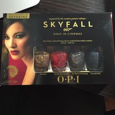 OPI Skyfall Mini Nail Polishes Didn't know I had this one but these colors are absolutely gorgeous!!  But again, trying to minimize the amount of things I have I must part with it to a better home. Makeup