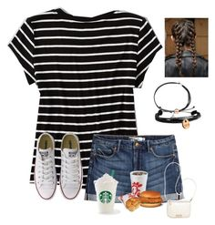 """""""OOTD!"""" by raquate1232 ❤ liked on Polyvore featuring American Eagle Outfitters, H&M, Converse, Alex and Ani, Domo Beads and Calvin Klein"""