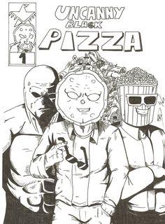 The Uncanny Black #Pizza de Mich Sums en ComicSquare #comics
