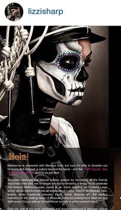 Day of the Dead makeup Half Dead #halloween #sugarskull #skeleton