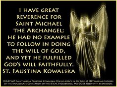 St. Michael, as spoken of by St. Faustina.