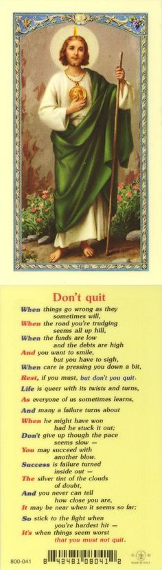 Amen! I will not quit!