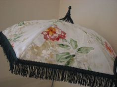 VICTORIAN PARASOL in White Flowered Print Fabric with by denntv, $35.00    INEED THIS