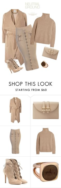 """""""outfit 5279"""" by natalyag ❤ liked on Polyvore featuring Dorothy Perkins, Meli Melo, Totême, Gianvito Rossi and Hermès"""