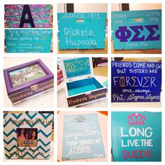 Gifts I made for my little #phisigmasigma #bigandlittle #sororitycrafts