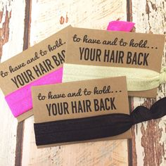 Hey, I found this really awesome Etsy listing at https://www.etsy.com/listing/248996212/bachelorette-party-favor-hair-tie-favor