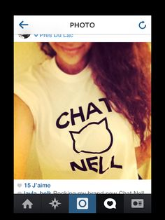 Order your own on: stradivariusisters@gmail.com #chatnell #chanel #fashion #cat #blogger #quotes Blogger Quotes, Chanel Fashion, T Shirts For Women, Cat, Tops, Cat Breeds, Kitty, Cats And Kittens, Cats