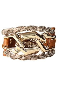 Multi-strand metallic cuff. LOVE the structure to this piece.