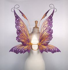 Hannah Titania Fairy Wings in Purple and Gold by glittrrgrrl on deviantART