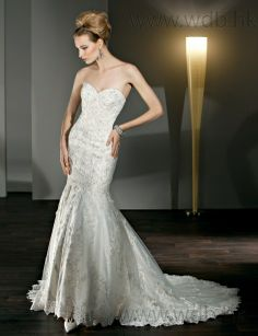 Fashionable trumpet / mermaid natural waist lace wedding dresswith beltRead More: http://www.weddingdresso.com/fashionable-trumpet-mermaid-natural-waist-lace-wedding-dress-with-belt.html