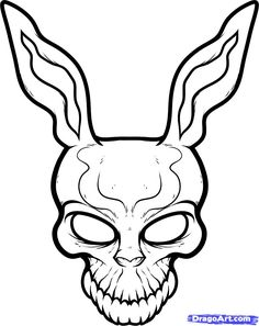 How to Draw Frank the Rabbit, Donnie Darko, Step by Step, Movies, Pop Culture, FREE Online Drawing Tutorial, Added by Dawn, January 25, 2012, 3:35:35 am
