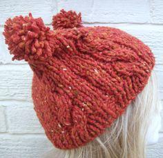 Angora Wool Two pom pom hat