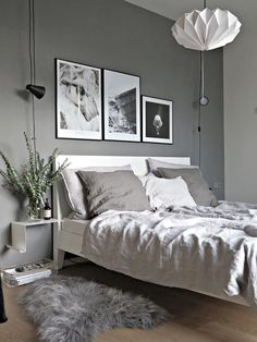 Dumbfounding Unique Ideas: Minimalist Bedroom Apartment Storage minimalist home closet beds.Minimalist Bedroom Neutral Bedside Tables minimalist kitchen ideas home.Minimalist Home Closet Beds. Grey Bedroom Design, Gray Bedroom, Trendy Bedroom, Home Bedroom, Bedroom Furniture, Bedroom Decor, Bedroom Ideas, Bedroom Designs, Bedroom Small