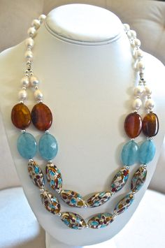 Elements of the Earth Necklace by BellaMiaJewelryCA on Etsy, $49.99