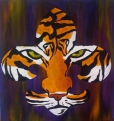 Tiger Fleur De Lis Painting