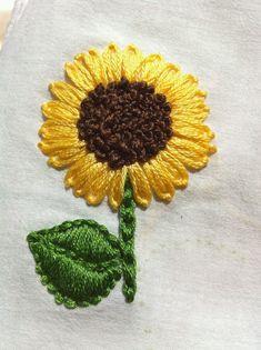 Brazilian Embroidery Stitches, Embroidery Stitches Tutorial, Learn Embroidery, Silk Ribbon Embroidery, Crewel Embroidery, Embroidery For Beginners, Hand Embroidery Patterns, Embroidery Techniques, Embroidery Kits
