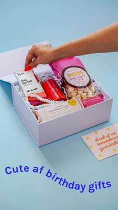 Don't miss another birthday. Build & ship a birthday box in three clicks. 🎁 40th Birthday Themes, 50th Birthday Party Ideas For Men, Gold Birthday Party, Birthday Box, Mom Birthday Gift, Adhd Facts, Birthday Care Packages, Dessert Packaging, Diy Gifts For Dad