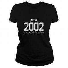 07 2002 July Star Was born T Shirt Hoodie Shirt VNeck Shirt Sweat Shirt Youth Tee for womens and Men